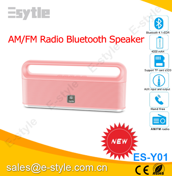 Rechargeable bluetooth speaker with am fm radio