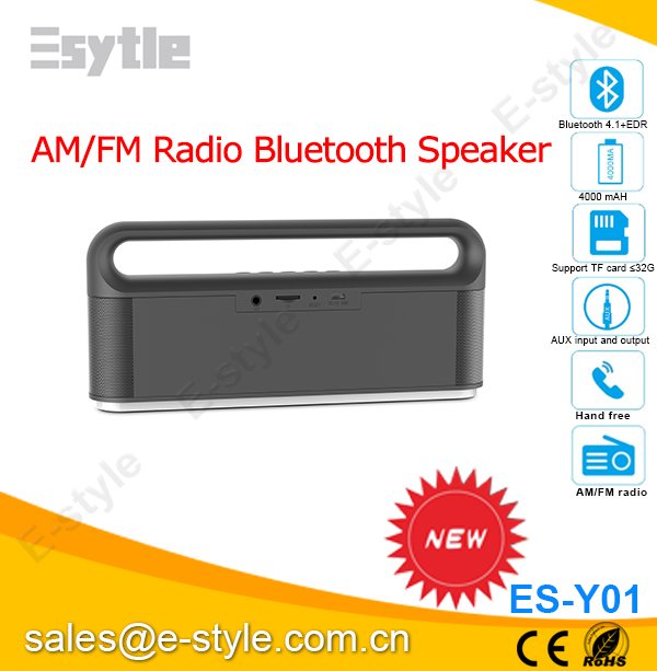 bluetooth speaker with am fm radio